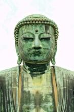Kamakura Buddha On White