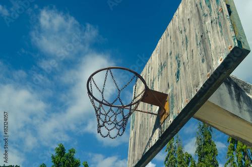 Basketball Hoop Blue Outdoor Court Game Basket Sport