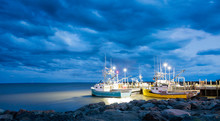 Fishing Boats In The Bay Of Fu...