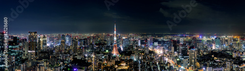 Recess Fitting Asian Famous Place 日本・東京タワーと東京都心の夜景