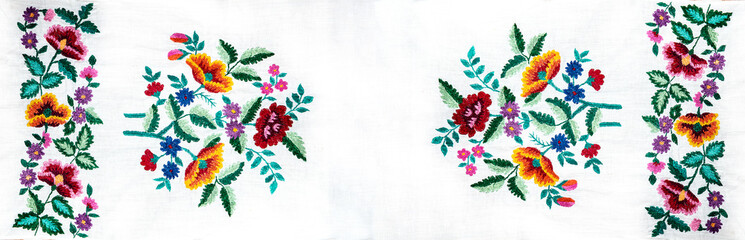 Ukrainian folk embroidery, handmade