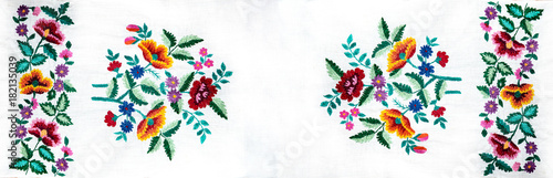 Photo  Ukrainian folk embroidery, handmade