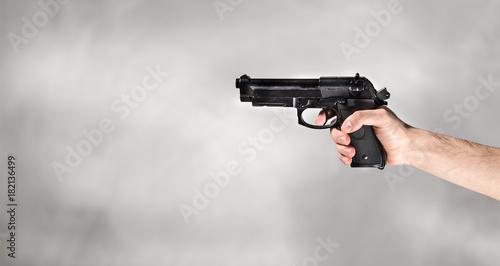 mano con pistola Canvas Print