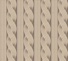 Seamless Pattern Of Knitting. ...