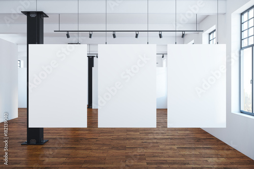 Canvas Print Modern interior with blank banners