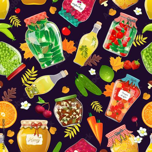 jesien-bezszwowa-tekstura-z-wysmienicie-konserwowac-w-szklanych-slojach