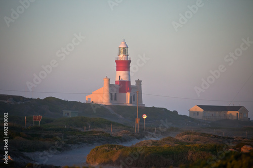 Garden Poster Lighthouse Lighthouse at Cape Agulhas at the southernmost point of Africa