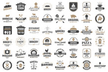 Restaurant Retro Vector Logo F...