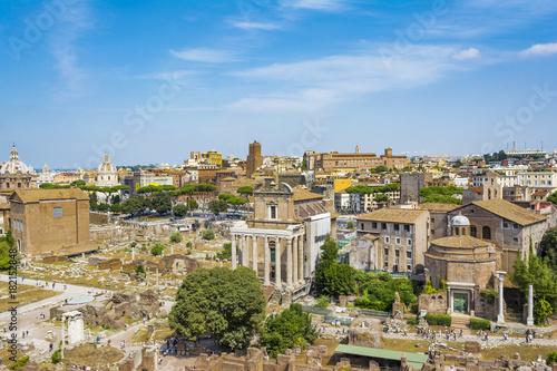 Foto op Plexiglas Kiev Top view of Roman Forum, Rome Italy