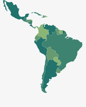 Latin/South America Map - High...