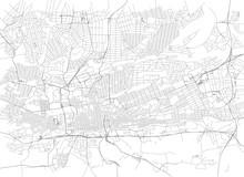 Strade Di Johannesburg Centro, Cartina Della Città, Sudafrica. Stradario