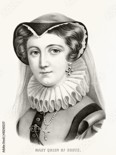 Photo Old portrait of Mary, Queen of Scotland