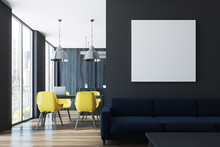 Black Living Room And Dining R...