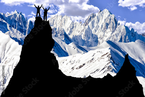 Fotografie, Obraz  success & mountaineering activities and the target triumph