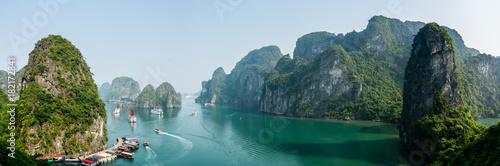 Fotografie, Obraz  Busy cove near Sung Sot Cave in Halong Bay, Vietnam