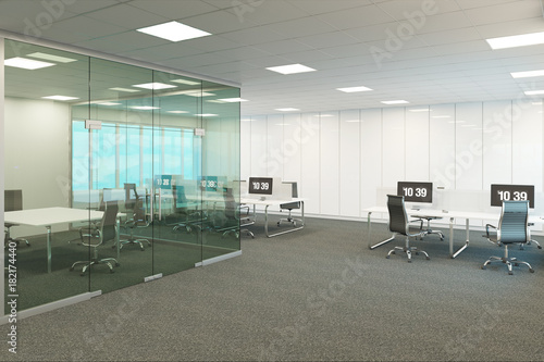 Fotografie, Obraz  3d illustration of the modern office