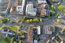 Above The City. Aerial View Of...