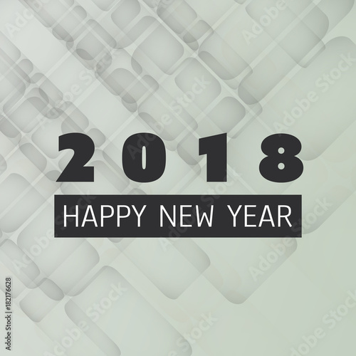 simple new year card cover or background design template 2018