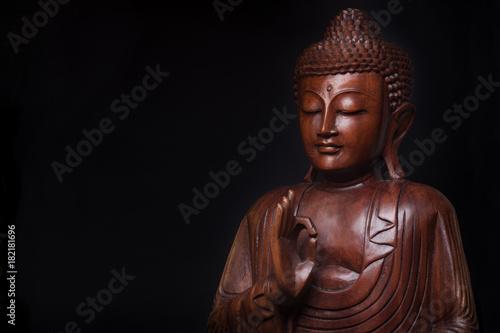 Buddha, with the hand raised in gesture of vitarka mudra.