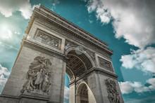 Arc De Triomphe In Paris Under...