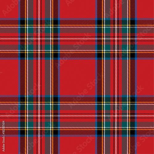Photo  Checkered pattern in Scottish style