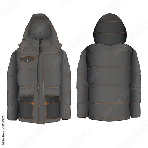 Winter hooded jacket with Wall mural