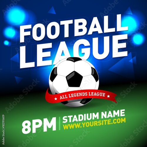 soccer league flyer design football sports invitation template