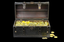 Treasure Chest Filled With Gol...