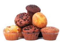 Pile Of Various Muffin Cup Cakes