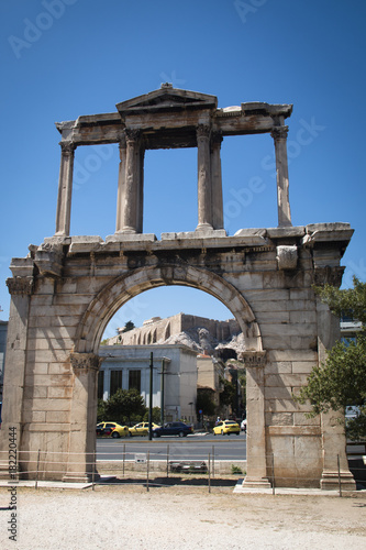 The Athens gate in Athens, the capital of Greece Canvas Print