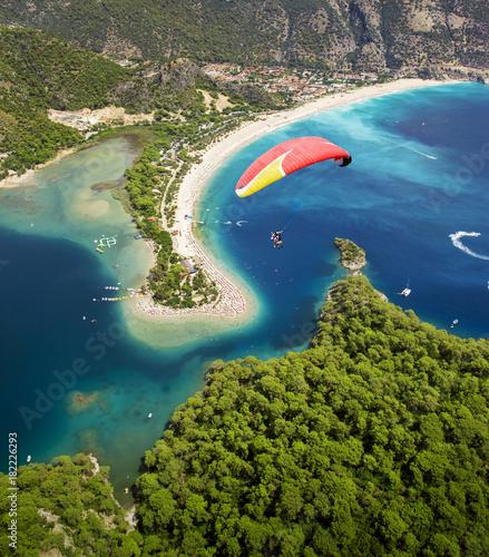 Aerial view of Blue Lagoon in Oludeniz, Fethiye, Turkey