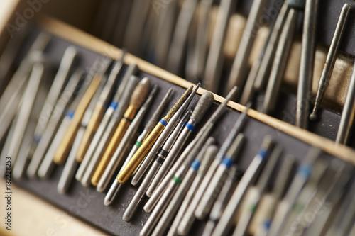 Photo Dental carbide bur tool