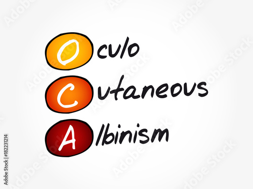 OCA - Oculo Cutaneous Albinism acronym, concept background Canvas Print