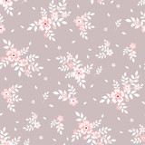 Seamless floral pattern. Background in small flowers for textiles, fabrics, cotton fabric, covers, wallpaper, print, gift wrapping, postcard, scrapbooking. - 182231854