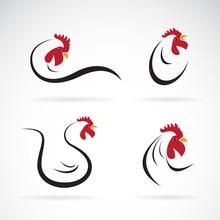 Vector Of Chicken Design. Farm Animals. Rooster Or Cock  Logo.