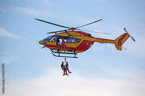 sauvetage par hélicoptère