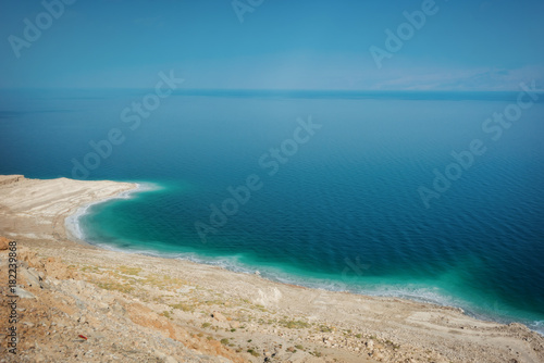 Canvas Prints Blue Dead Sea Lookout Israel