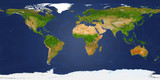 Fototapeta Fototapety dla młodzieży do pokoju - Extra large big map with highest resolution detail avalable. XXL size physical world map illustration Clipping patch included. Primary source, elements of this image furnished by NASA
