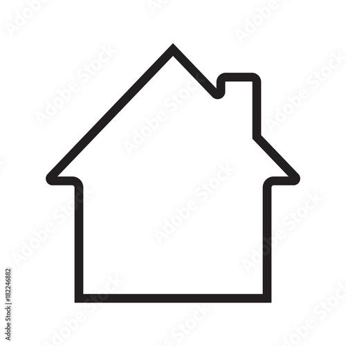 Valokuvatapetti House, cottage, home linear icon