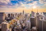 Fototapeta Nowy Jork - New York, New York, USA skyline.