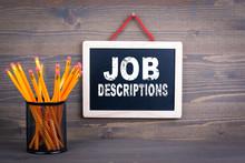Job Descriptions. Career And S...