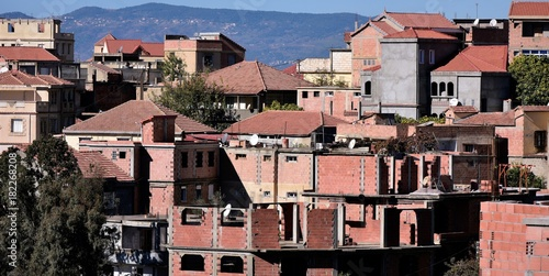 Plakat wioska w Kabylie