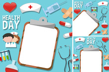 Health Day Poster With Medical...