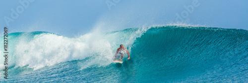 Stickers pour portes Eau Surfeur à Teahupoo