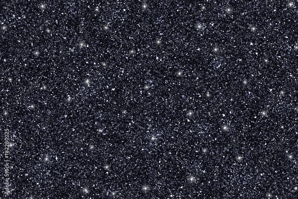 Fototapety, obrazy: Black glitter texture