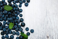 Fresh Blueberries On A Table