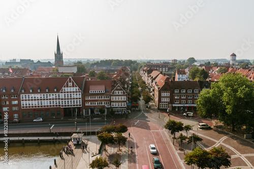 Canvas Print Über den Dächern von Emden - Altstadt Emden