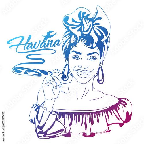 cuban woman face Canvas Print