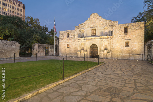 The Alamo Mission in San Antonio is commonly called The Alamo and was originally known as Misión San Antonio de Valero Wallpaper Mural