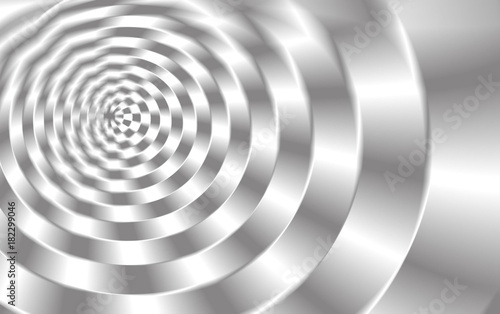 Staande foto Spiraal Spirale in grau-weiss nach außen größer werdend